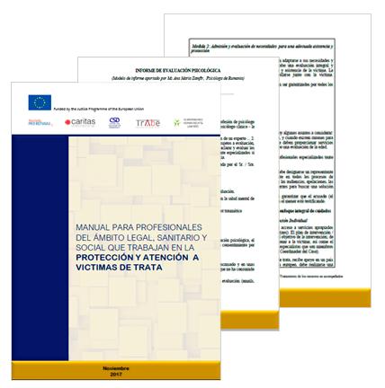 Imagen Manual para profesionales del ámbito legal, sanitario, social que trabajan en la protección y atención a víctimas de trata
