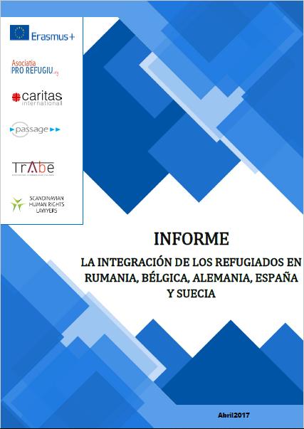Portada del Informe de Integración de los refugiados en Rumanía, Bélgica, Alemania, España y Suecia