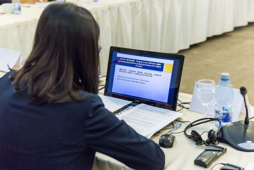 Imagen del encuentro del Justice for Women en el que participó Asociación Trabe
