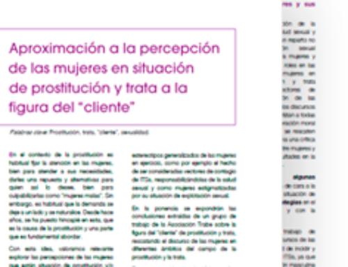 """Aproximación a la percepción de las mujeres en situación de prostitución y trata a la figura del """"cliente"""""""