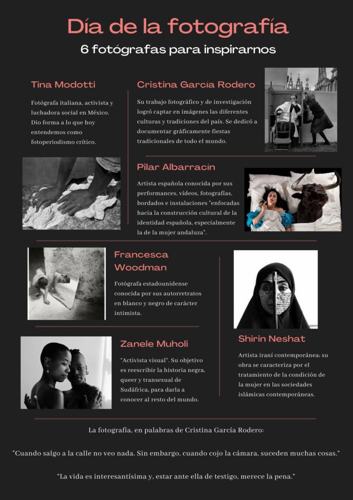 Día Mundial de la Fotografía 6 mujeres fotógrafas que nos inspiran